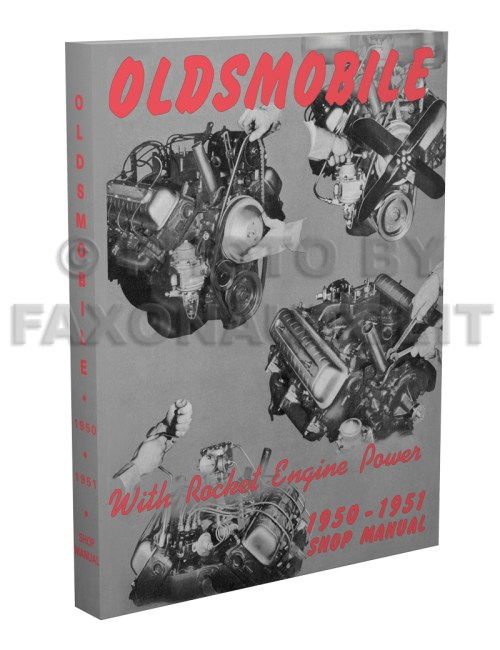 small resolution of 1950 1951 oldsmobile shop manual reprint