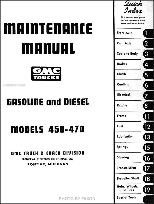 1952-1953 GMC 450-470 Medium Duty Repair Shop Manual Original