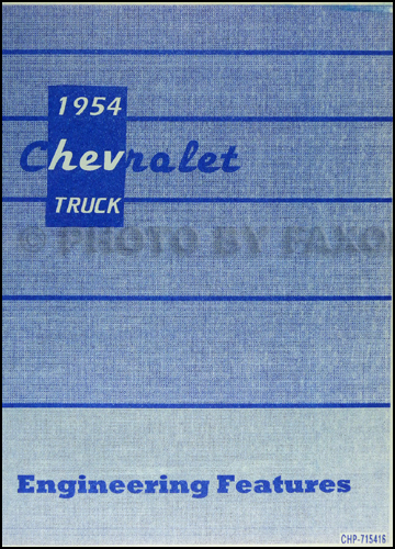 1954 Chevrolet Truck Wiring Diagram