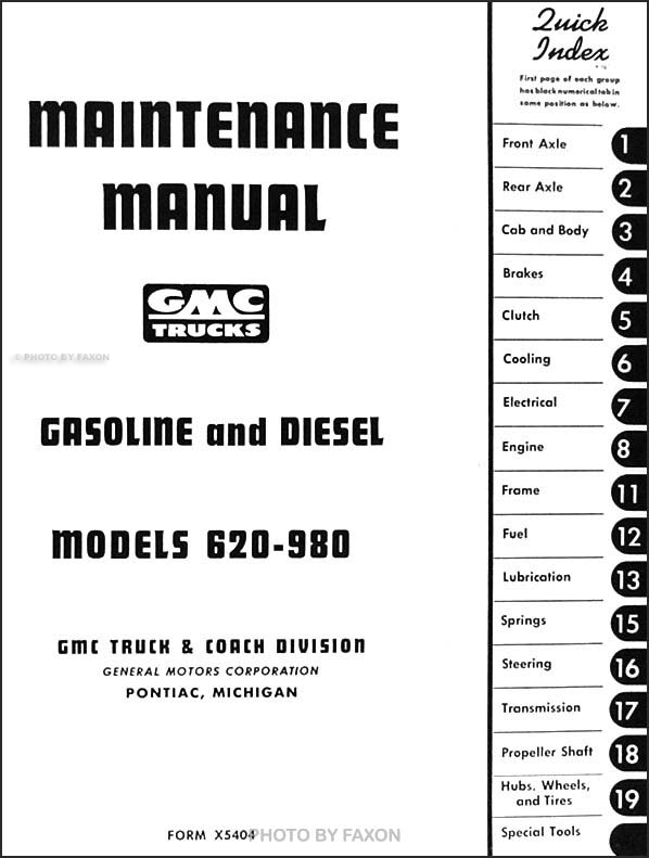 1954-1955 GMC Cannonball Repair Shop Manual Original RISS