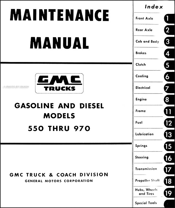 1957-1959 GMC 550-970 Repair Shop Manual Original