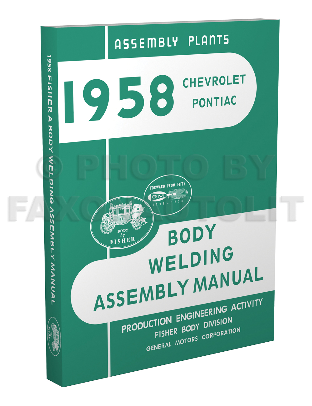 hight resolution of 1958 fisher body welding assembly manual reprint chevrolet pontiac