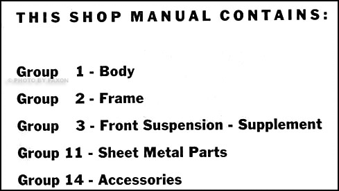 1959-1960 Opel Repair Shop Manual Original Supplement