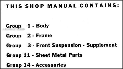 1959-1960 Opel Repair Shop Manual Original Supplement