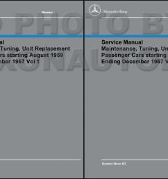 1960 1967 mercedes shop service manual maintenance reprint [ 1241 x 800 Pixel ]