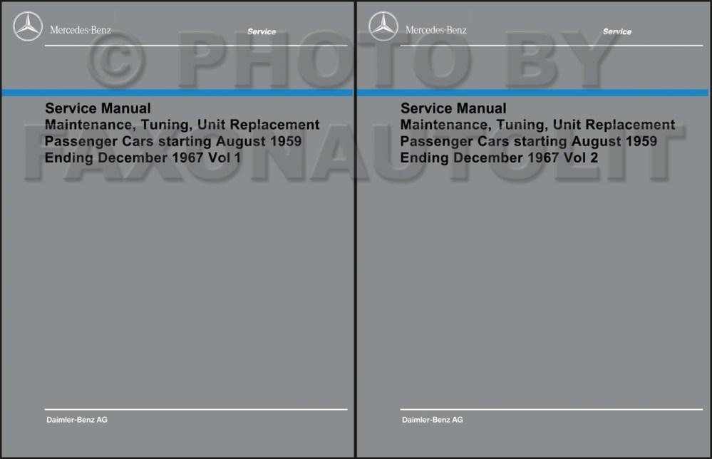 medium resolution of 1960 1967 mercedes shop service manual maintenance reprint