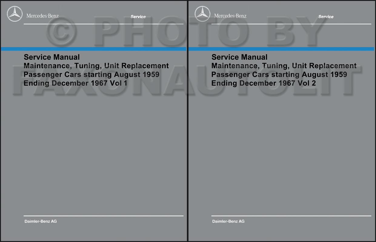hight resolution of 1960 1967 mercedes shop service manual maintenance reprint
