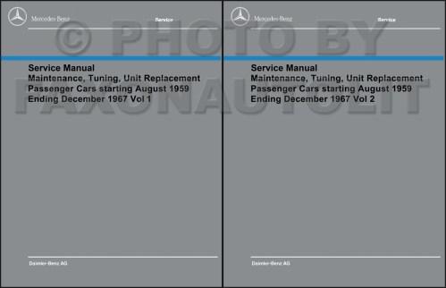small resolution of 1960 1967 mercedes shop service manual maintenance reprint