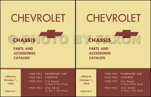 1957 1963 Chevy Chassis Parts Book Catalog Illustrated