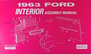 1963 Ford Galaxie 427 Racing Parts Info Homologation Record Reprint