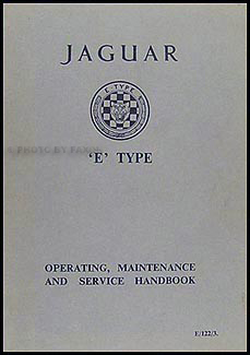 1963 Jaguar XKE Owner's Manual Original