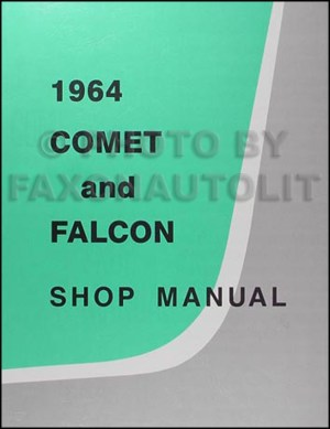 1964 Ford Repair Shop Manual and Parts Book CD Falcon Ranchero Mustang Comet