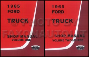 1965 Ford F100 F250 F350 Pickup Truck Owner's Manual Reprint