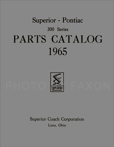 1963-1967 Pontiac Body Parts Catalog Reprint