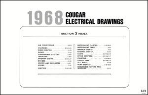 1968 Mercury Cougar and XR7 Wiring Diagram Original