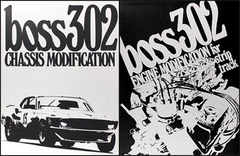 engine diagram � 1969-1970 mustang boss 302 cougar eliminator racing  manual 2 book set - ford mustang