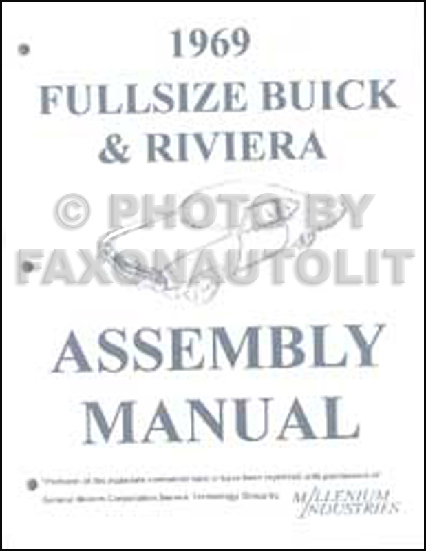 1969 Buick Repair Shop Manual Original GS/Skylark/Riviera