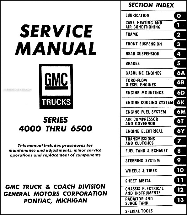 1969 GMC 4000-6500 Repair Shop Manual Original Medium Duty