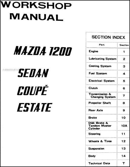 1970 1972 Mazda 1200 Repair Shop Manual Original