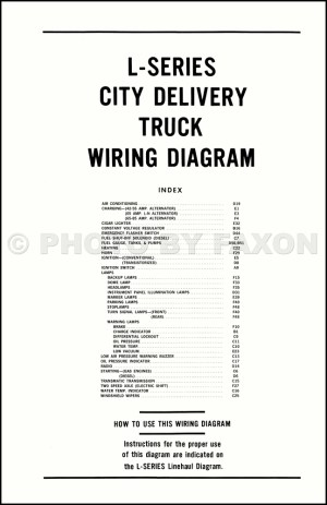 1970 Ford LSeries Truck Wiring Diagram L800 L900 L8000