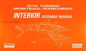 1970 Ford Lincoln Mercury Car Repair Shop Manual Reprint Set