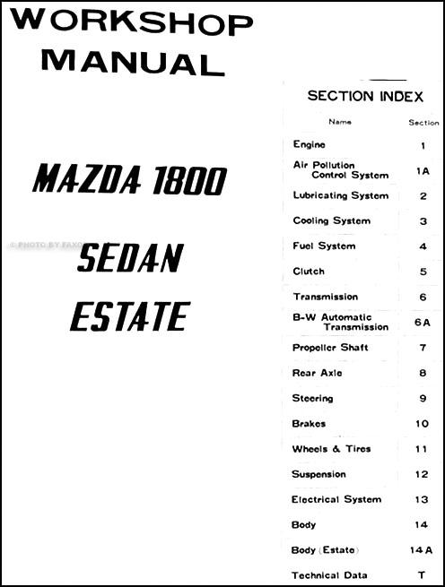 1970 1971 Mazda 1800 Repair Shop Manual Original