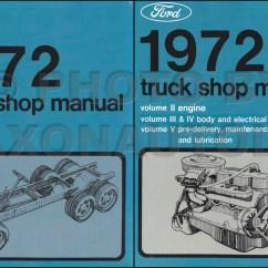 1972 Ford F250 Wiring Diagram 1993 Chevy Truck Radio F100 F350 Pickup Foldout