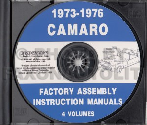 19741975 Chevy CDROM Shop, Overhaul and Body Manuals