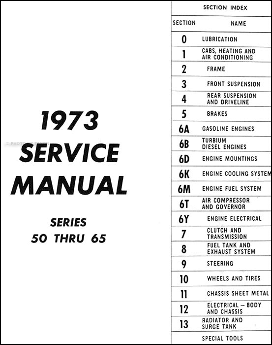 1973 Chevrolet Medium Duty Truck Repair Shop Manual Original