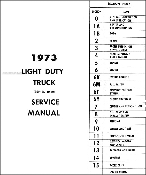 1973 GMC 1500-3500 Truck Repair Shop Manual Original