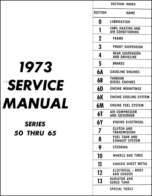1973 GMC 5000-6500 Repair Shop Manual Original Medium Duty