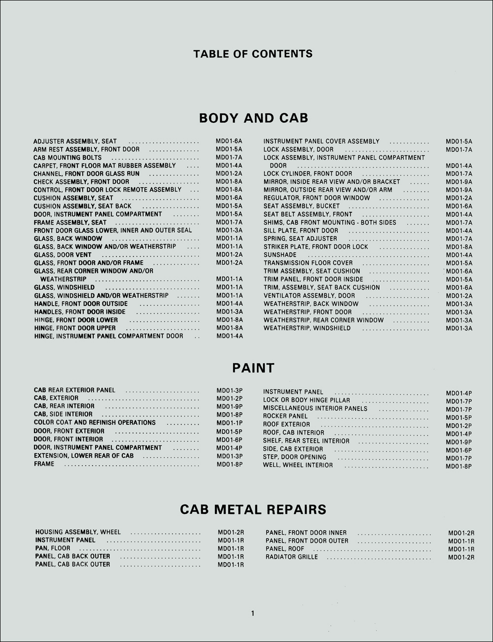 1974 Chevrolet Medium Truck Service Manual Supplement
