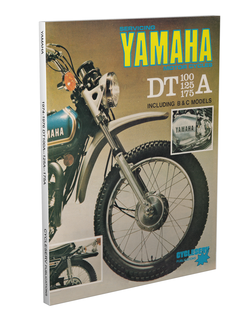 medium resolution of 1974 1976 yamaha dt 100 125 175 cycleserv shop manual enduro motorcycle
