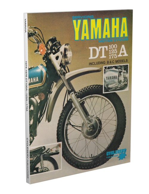 small resolution of 1974 1976 yamaha dt 100 125 175 cycleserv shop manual enduro motorcycle