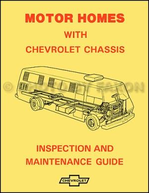 1974 Chevy GMC P30 P35 Motorhome Foldout Wiring Diagram