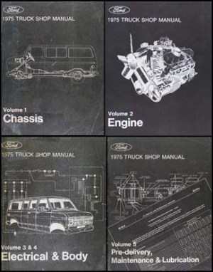 1975 Ford F100F350 Pickup Truck Repair Shop Manual and Wiring Diagrams CD