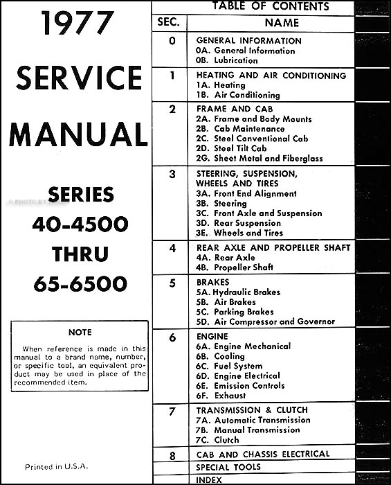 1977 Chevrolet Medium Duty Truck Repair Shop Manual Original