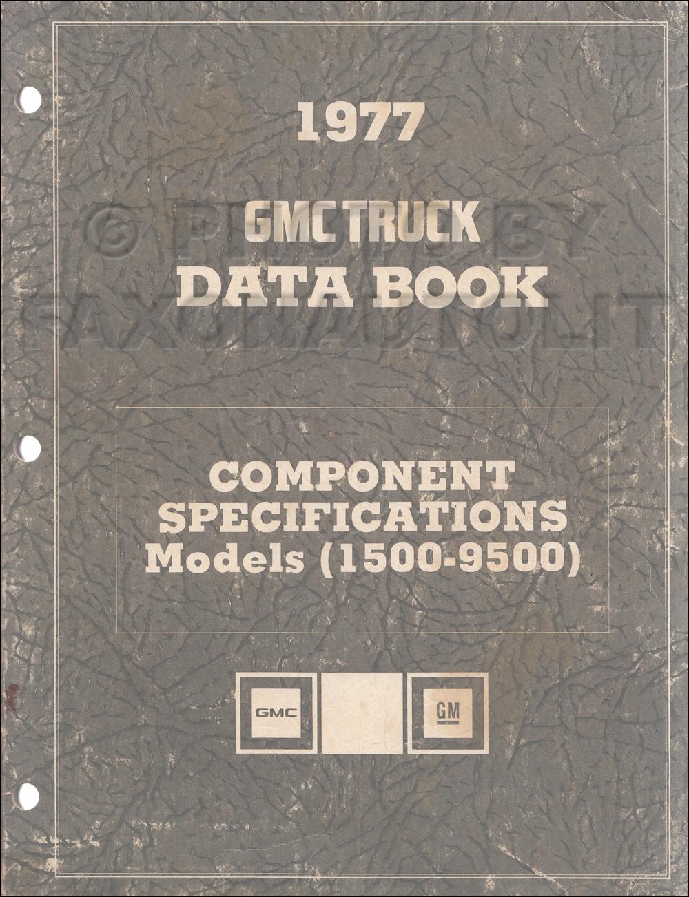 medium resolution of 1977 gmc component specifications data book original revised 1959 gmc step van engine 1977 gmc vandura wiring diagram g35