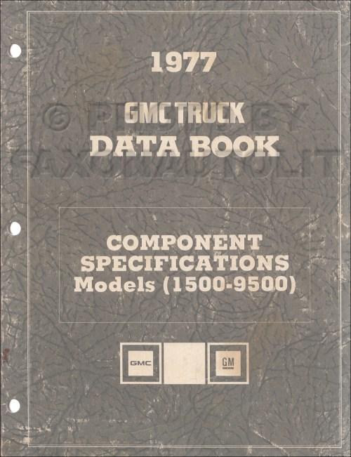small resolution of 1977 gmc component specifications data book original revised 1959 gmc step van engine 1977 gmc vandura wiring diagram g35