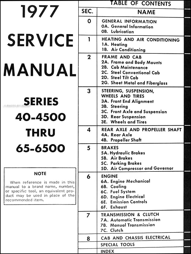 1977 GMC 4500-6500 Truck Repair Shop Manual Original