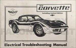 1978 Chevy Repair Shop Manual Original Camaro Chevelle El