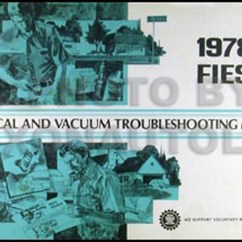 Ford Fiesta Wiring Diagram Portrait Lighting 1978 Electrical Vacuum Troubleshooting Manual Original