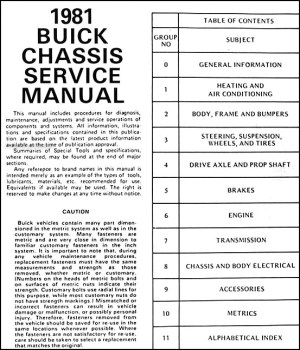 1981 Buick Repair Shop Manual Original  RivieraLeSabre