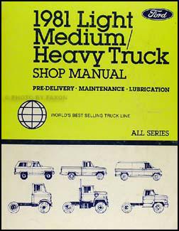 1981 Ford LSeries Foldout Wiring Diagram L800 L900 L8000
