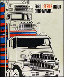 1983 Ford LSeries Foldout Wiring Diagram LTL9000 L800
