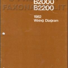 1992 Mazda B2200 Alternator Wiring Diagram 2003 Chevy Silverado 2500 Radio B2000 Jg Imixeasy De 1982 Pickup Truck Manual Original Rh Faxonautoliterature Com Coil
