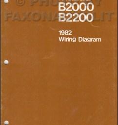 89 mazda b2200 ignition diagram [ 800 x 1130 Pixel ]
