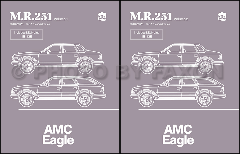 1984 AMC Eagle Repair Shop Manual Original M.R.251