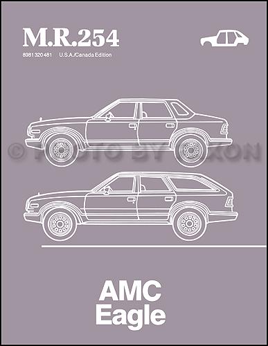 1984-1988 AMC Eagle Body Manual Reprint M.R.254