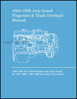 19841988 Jeep Grand Wagoneer & Truck Repair Shop Manual Original MR253